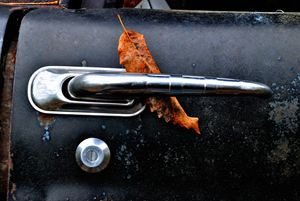Leaf on truck handle