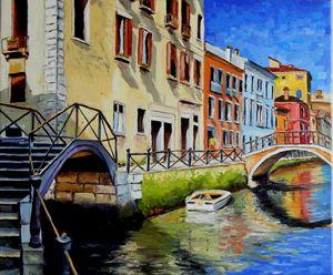 Cityscape. Venice. Ready to hang.