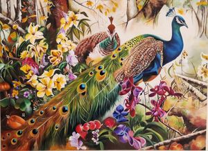 Peacock in a Jungle - Geetu Thakur Art