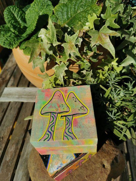 Mini mushroom box - Zeekoe art