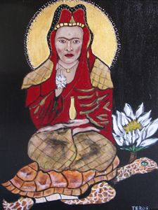 Quan Yin with the face of Frida