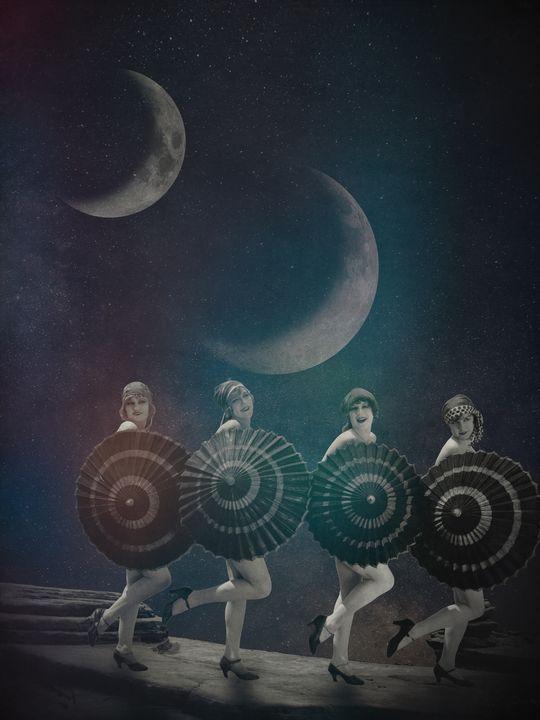 Bathing in Moonlight - Karoline Stock