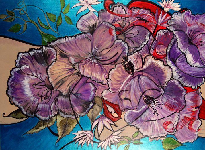 "Forgiveness ""The Lady in the Flowers - SaritaRedArt"