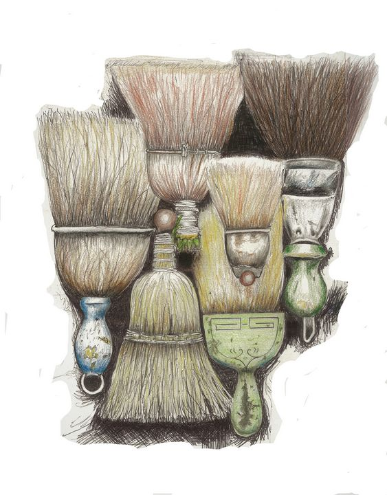 ''Old Hand Brooms '' - R. TORRES  GALLERY