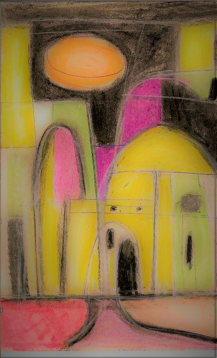 '' AN OLD JERUSALEM MOSQUE '' - R. TORRES  GALLERY