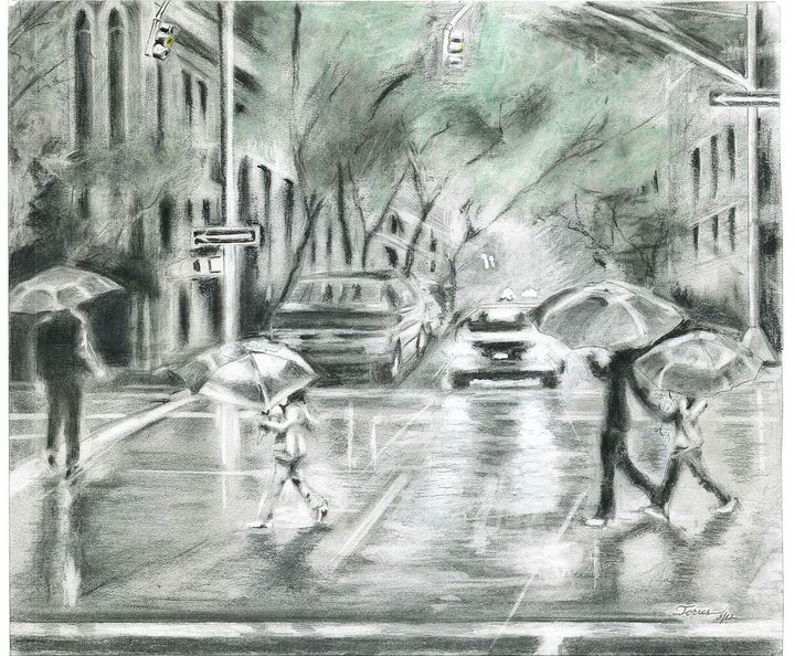 '' A rainy afternoon by the Bay '' - R. TORRES  GALLERY