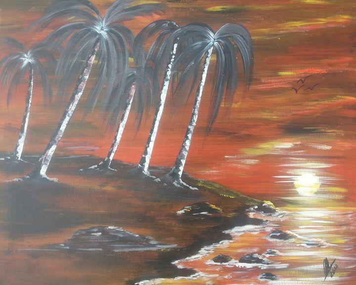 Coastline Sunset - Kelvin's Art Studio