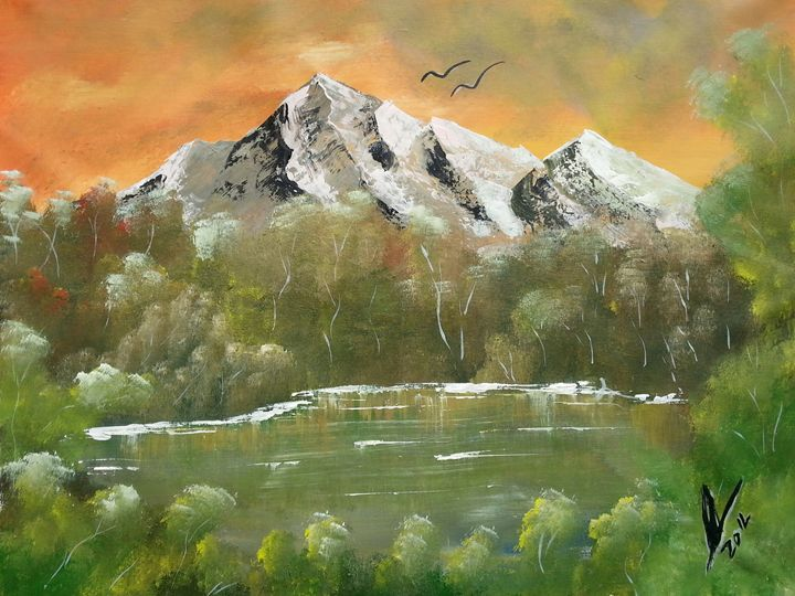 Mountain Landscape - Kelvin's Art Studio