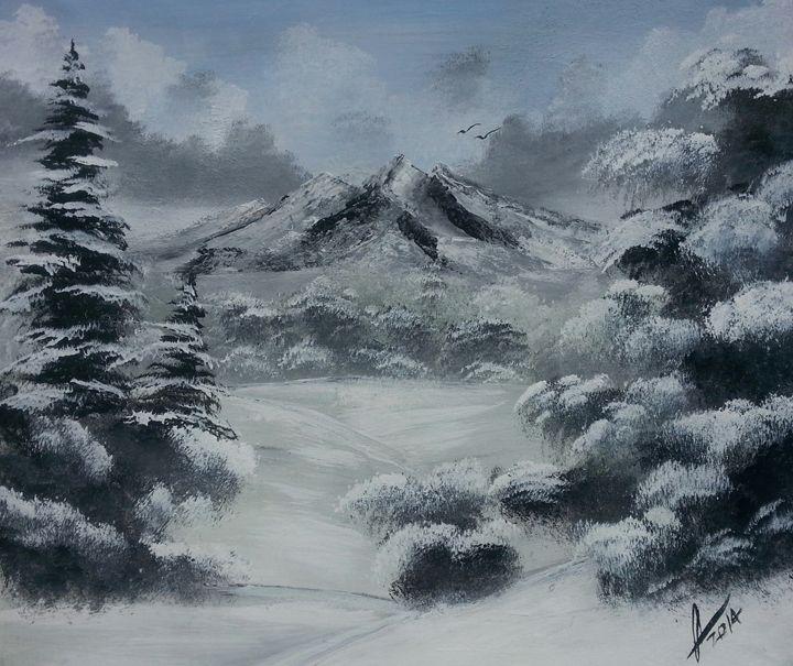Snow Forest - Kelvin's Art Studio