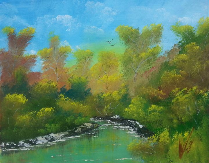 In the woods - Kelvin's Art Studio
