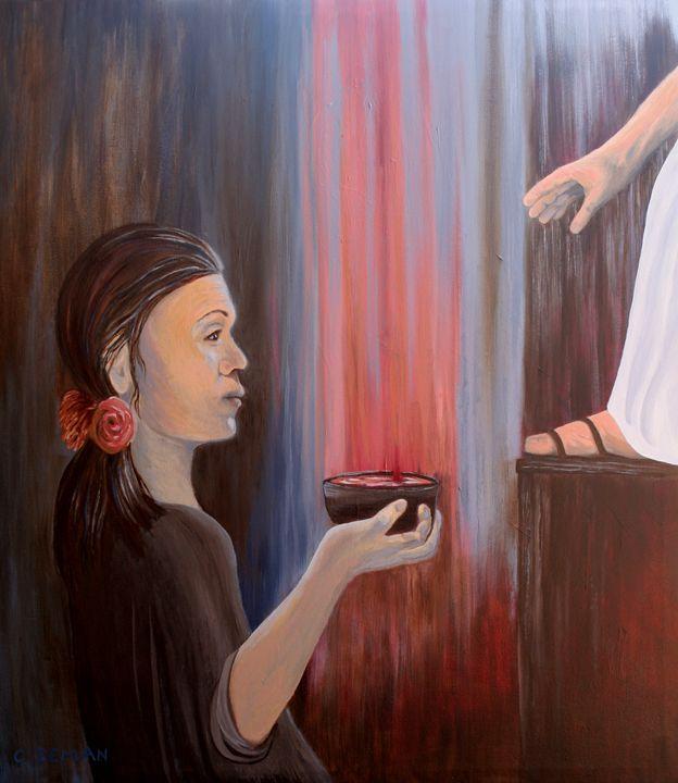Woman Anoints the Feet of Jesus - C. Zeman