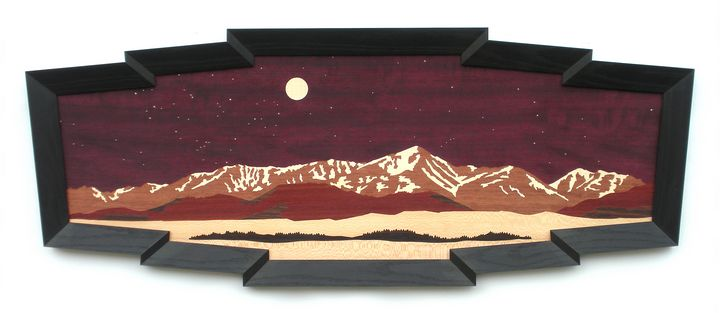 Mount Elbert Panorama - Lynne Buss Marquetry