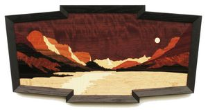 Saint Mary Lake Panorama - Montana - Lynne Buss Marquetry