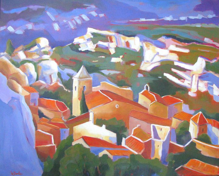 Les Baux de Provence - Jean-Noël Le Junter's paintings
