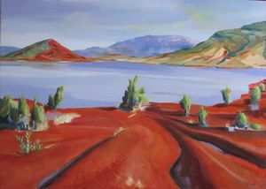 At the side of Salagou lake