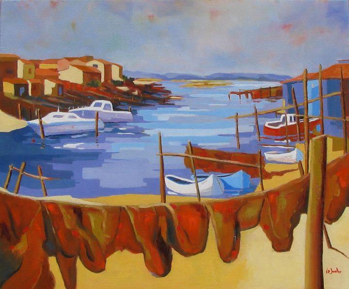 Sète, la Pointe Courte - Jean-Noël Le Junter's paintings