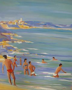 Bathers in Antibes