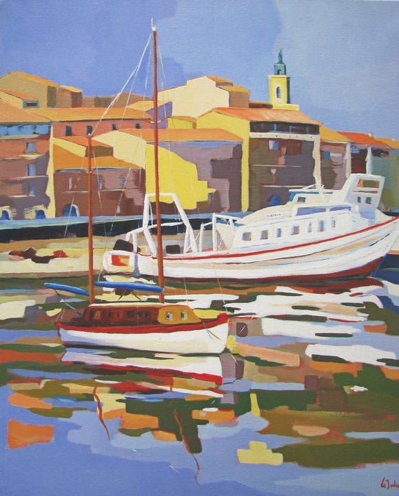 Sète, a fishing harbour in France - Jean-Noël Le Junter's paintings