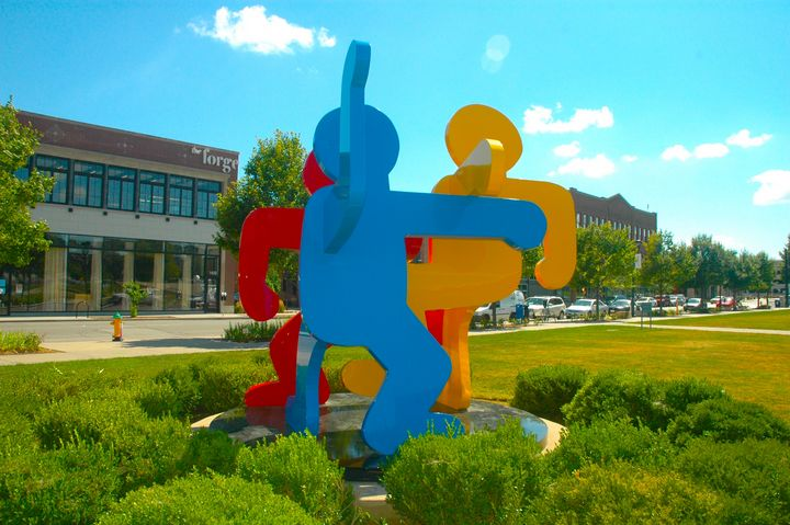 Bright Dancing People - Hidden Mouse Art