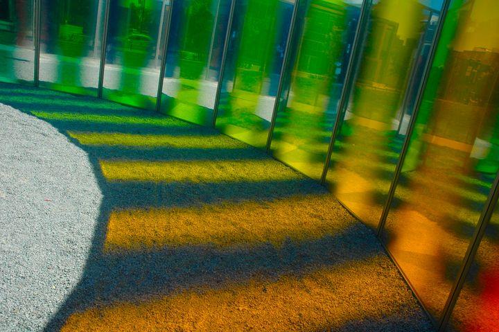 Rainbow Wall - Hidden Mouse Art