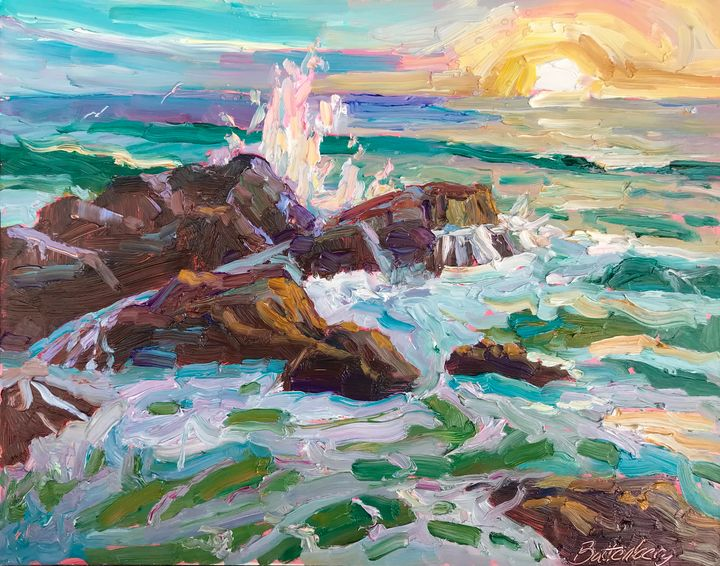 Sunset Surf (SOLD) - Battenberg Gallery