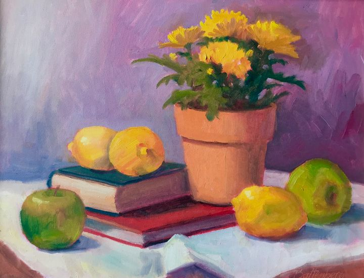 Books and Fruit - Battenberg Gallery