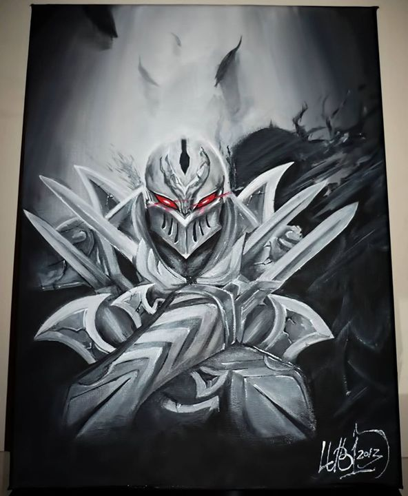Zed on Canvas - Sold - - LubigaArt