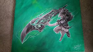 Riven League of legends Painting