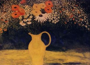 Wildflowers in Yellow Vase