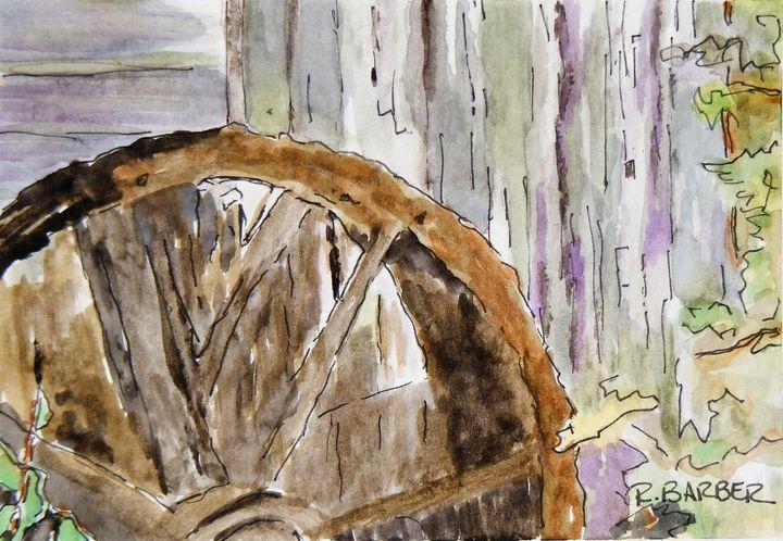 Old Grist Mill Water Wheel - Robyn Barber Fine Art