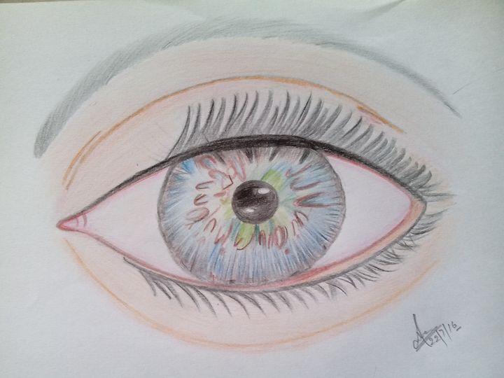 Pencil sketch of eye - Sneha cosmosian