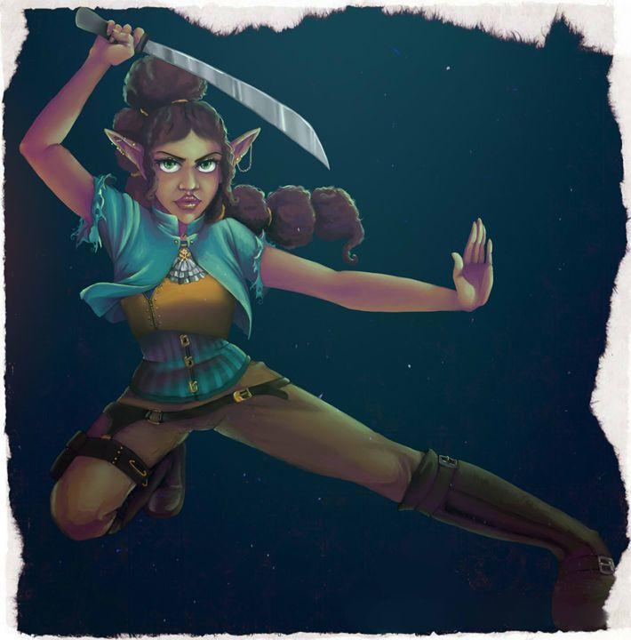 Defending The Land - Spice Princess Art