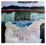 "Oil on canvas. 46"" x 48"""