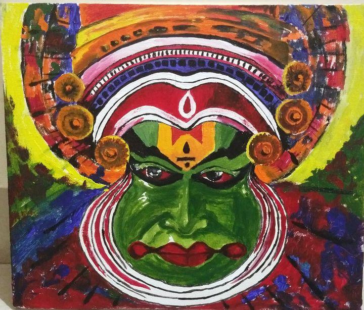 Kerala mural Kathakali painting - Sayali
