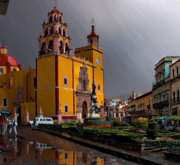 rainy afternoon in guanajuato - ezdrifter's artwork