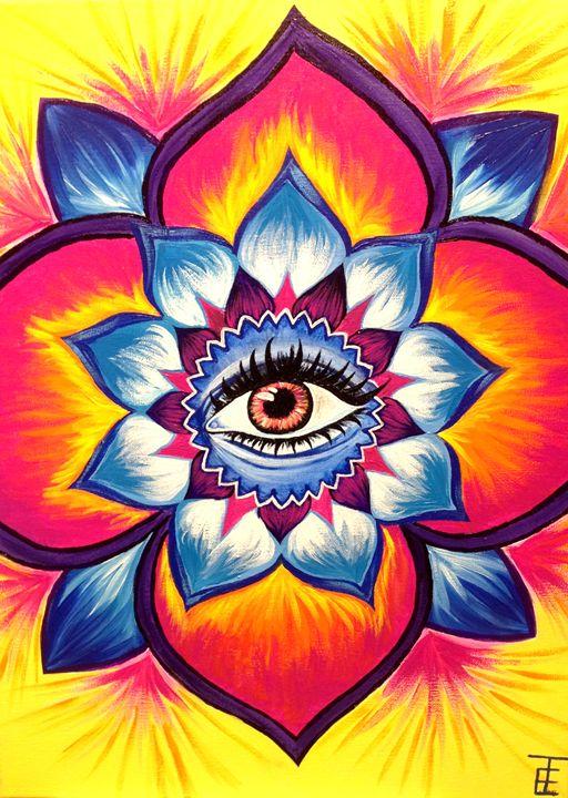 Mandala Eye - Art by Emily Toney