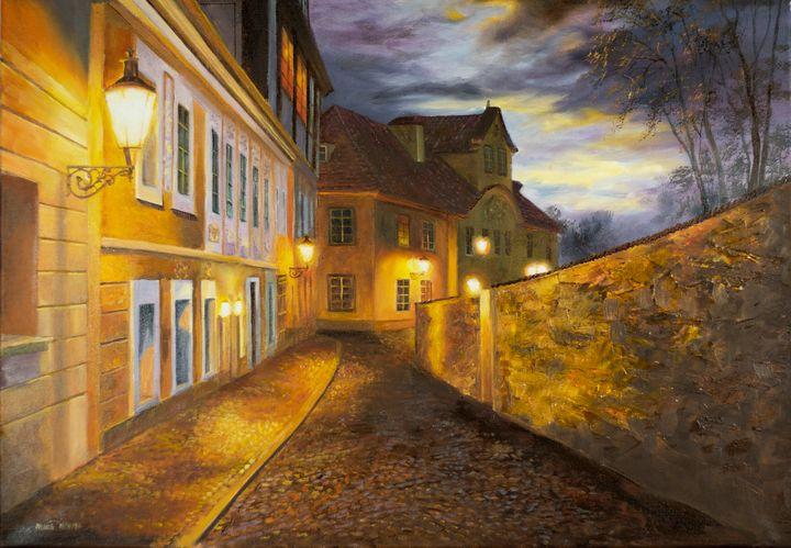 Street of old Prague - Karolina Cechova Prints