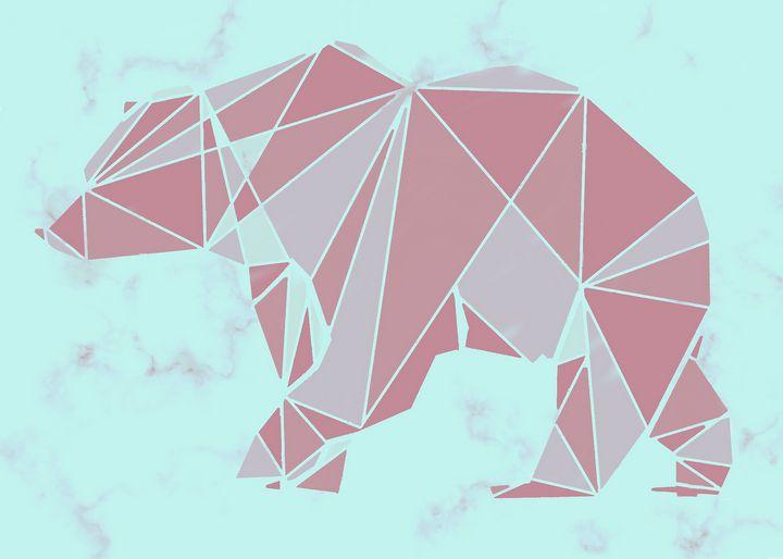 Nordic geometric bear - Karolina Cechova Prints