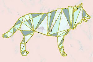 Geometric nordic wolf