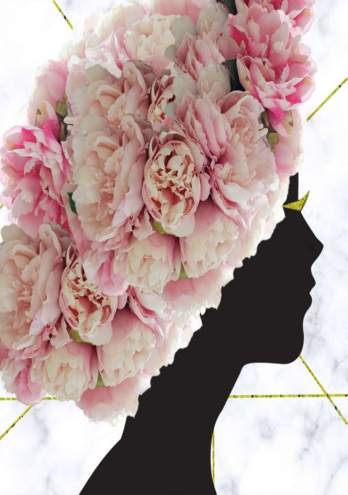 Head full of flowers - Karolina Cechova Prints