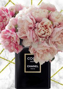 Chanel peonies vase
