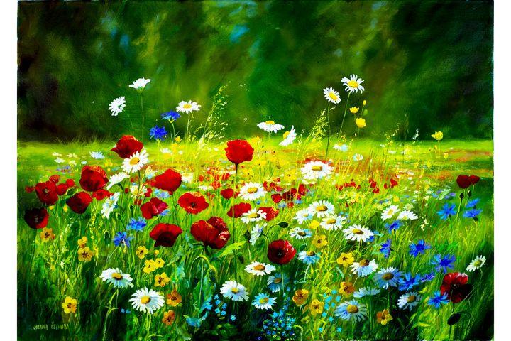 Poppy meadow - Karolina Cechova Prints
