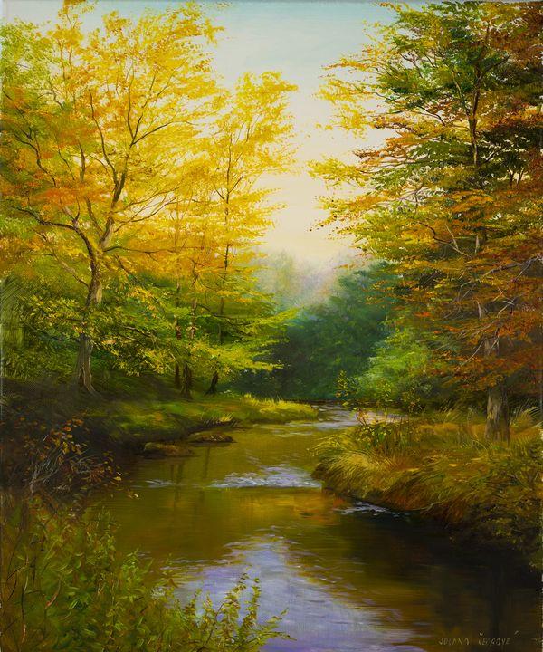 Autumn creek - Karolina Cechova Prints