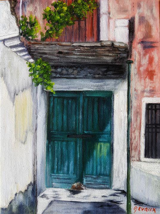 Corfu Art - The Forgotten Door - Art Gevaux