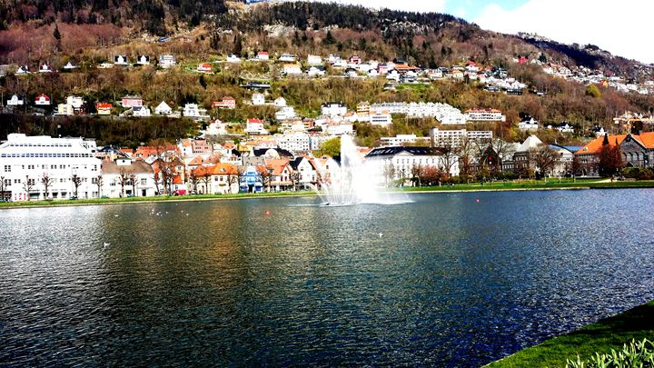 Beautiful Bergen - Summer - Byparken - WhiteBoard Sketches and Photography