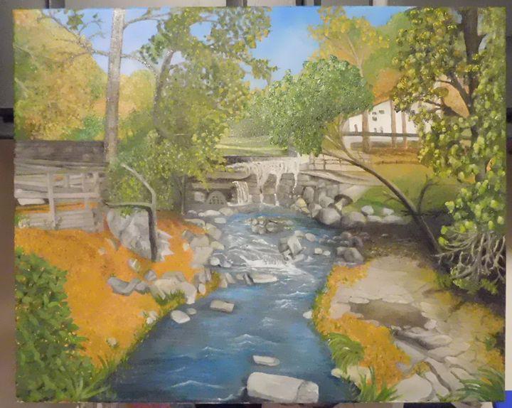 Water flows in Pottsown - Bill's art