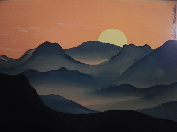 Serene Mountains - Leslie M. Larkin