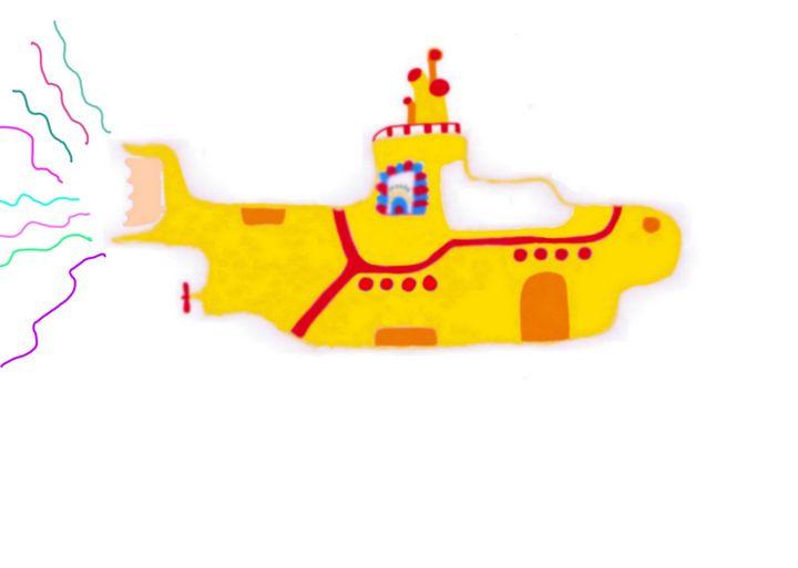 Yellow Submarine ART - Mary's Homemade Projects