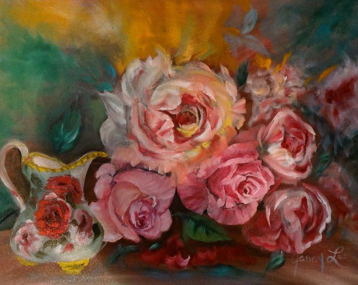 Creamy Roses with Cream Pitcher - Jennylee