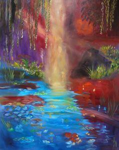 Monet's Sunlit Pond